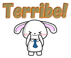 English Rabbit sticker #6180462