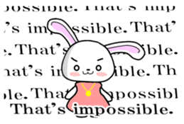 English Rabbit sticker #6180481