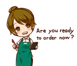 A healing type of cafe clerk 2 [ENG] sticker #6180936