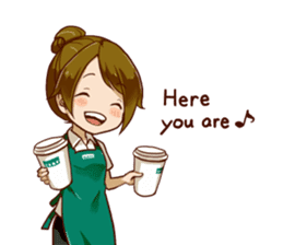 A healing type of cafe clerk 2 [ENG] sticker #6180937