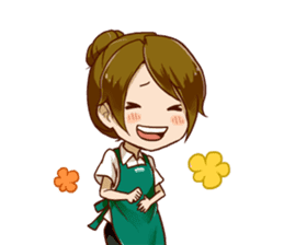 A healing type of cafe clerk 2 [ENG] sticker #6180954
