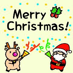 Santa and Reindeer~Christmas stickers~