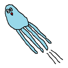 pink & blue jellyfish sticker sticker #6202334