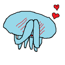 pink & blue jellyfish sticker sticker #6202338