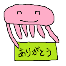 pink & blue jellyfish sticker sticker #6202350