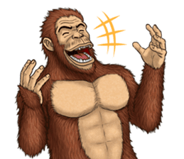Australopithecus lie-in sticker #6203968