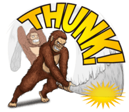 Australopithecus lie-in sticker #6203984