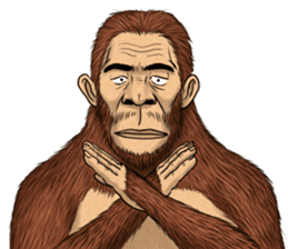 Australopithecus lie-in sticker #6203990