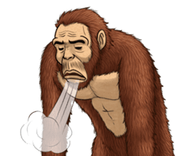 Australopithecus lie-in sticker #6204006