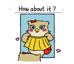 "eared owl ""mimi"" (english) sticker #6206169"
