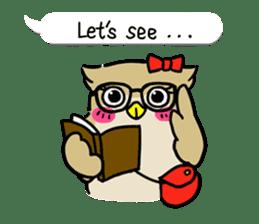 "eared owl ""mimi"" (english) sticker #6206173"