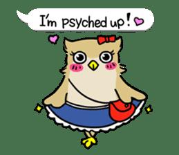 "eared owl ""mimi"" (english) sticker #6206175"