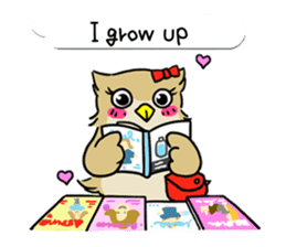 "eared owl ""mimi"" (english) sticker #6206176"