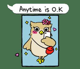 "eared owl ""mimi"" (english) sticker #6206178"