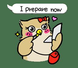 "eared owl ""mimi"" (english) sticker #6206179"