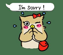 "eared owl ""mimi"" (english) sticker #6206183"