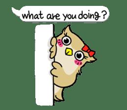 "eared owl ""mimi"" (english) sticker #6206184"