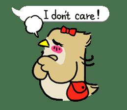 "eared owl ""mimi"" (english) sticker #6206186"
