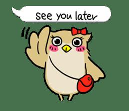 "eared owl ""mimi"" (english) sticker #6206187"