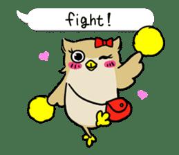 "eared owl ""mimi"" (english) sticker #6206188"