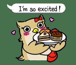 "eared owl ""mimi"" (english) sticker #6206191"