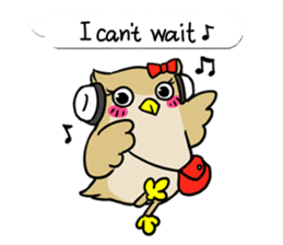 "eared owl ""mimi"" (english) sticker #6206194"