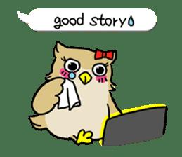 "eared owl ""mimi"" (english) sticker #6206195"
