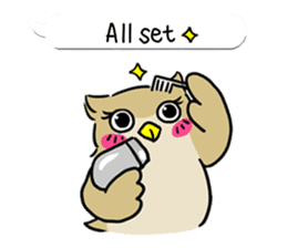 "eared owl ""mimi"" (english) sticker #6206198"