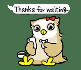 "eared owl ""mimi"" (english) sticker #6206199"