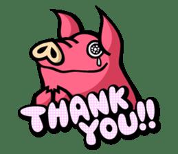 PIGGIE the Pinky Pig sticker #6209014