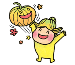 Hanako and Pumpkin chan sticker #6212229