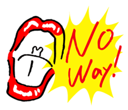 Lips of the woman sticker #6222312