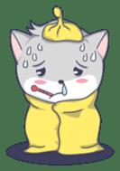 Grey kitten sticker #6223824