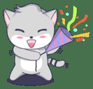 Grey kitten sticker #6223825