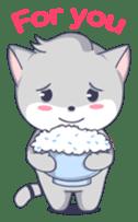 Grey kitten sticker #6223826