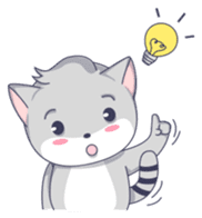 Grey kitten sticker #6223838