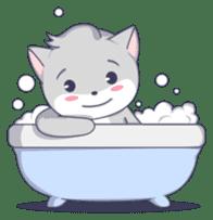 Grey kitten sticker #6223839