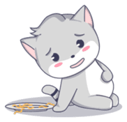 Grey kitten sticker #6223841