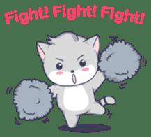Grey kitten sticker #6223842