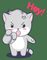 Grey kitten sticker #6223843