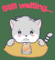 Grey kitten sticker #6223852