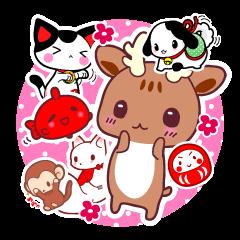 Deer, fox, monkey,gods