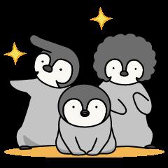 Cute emperor penguin chicks
