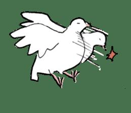 Reaction of pigeon sticker #6237203