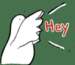 Reaction of pigeon sticker #6237205