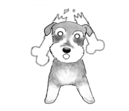 Day-to-day Schnauzer sticker #6241425