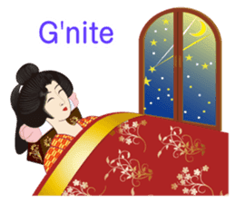Life of a Modern Ukiyo-e Girl2 sticker #6241615