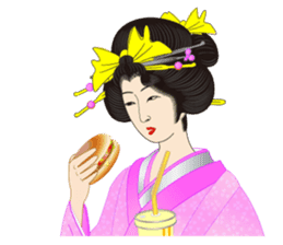 Life of a Modern Ukiyo-e Girl2 sticker #6241635