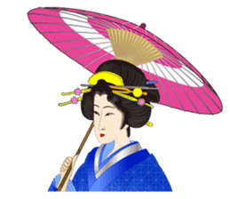 Life of a Modern Ukiyo-e Girl2 sticker #6241637