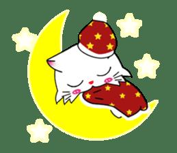 Gigi little white cat sticker #6247118